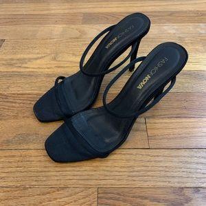 Fashion Nova Black Strappy Heels